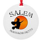 Salem Massachusetts Witch Round Ornament