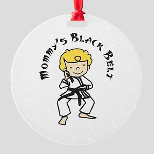 Mommys Black Belt Ornament