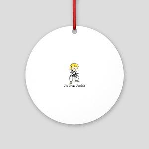 Jiu Jitsu Junkie Ornament (Round)