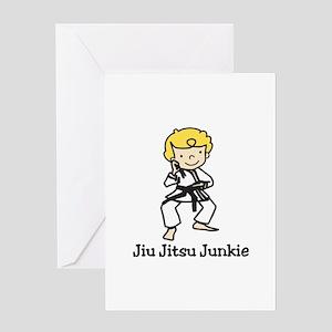 Jiu Jitsu Junkie Greeting Cards