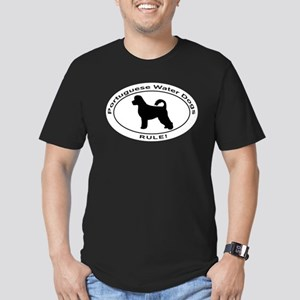 PORTUGUESE WATER DOG Men's Fitted T-Shirt (dark)