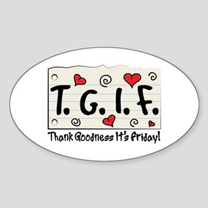 Thank Goodness It's Friday! Sticker