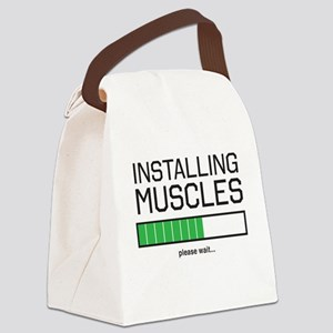 Installing muscles Canvas Lunch Bag