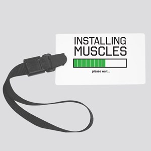 Installing muscles Luggage Tag