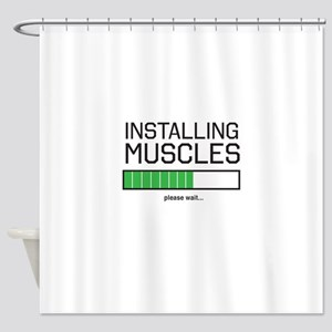Installing muscles Shower Curtain