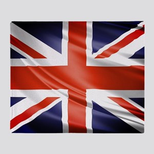 Artistic Union Jack Throw Blanket