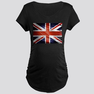 Artistic Union Jack Maternity T-Shirt