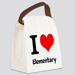 I Love Elementary Canvas Lunch Bag