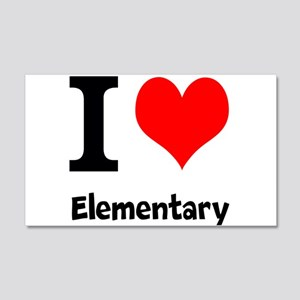 I Love Elementary Wall Decal