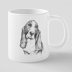 Basset Hound drawing Mugs
