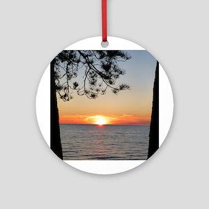 Lake Superior sunset Ornament (Round)