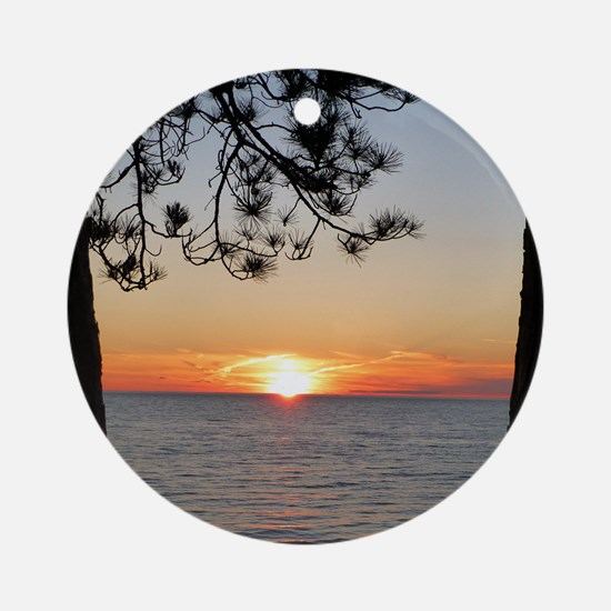 Lake Superior sunset Ornament (Round)