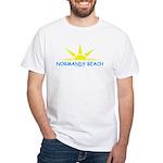 NORMANDY BEACH Sun - White T-Shirt