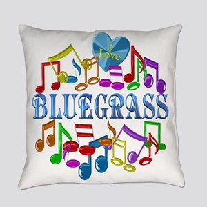 I Love Bluegrass Everyday Pillow