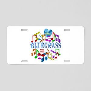 I Love Bluegrass Aluminum License Plate