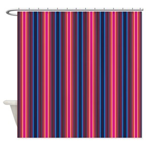 Gray Striped Shower Curtains