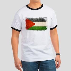 Free Palestine Ringer T