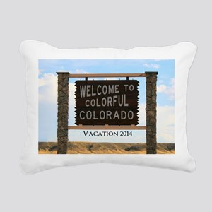 Welcome to Colorful Colo Rectangular Canvas Pillow