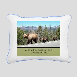 Yellowstone Wild Bears C Rectangular Canvas Pillow