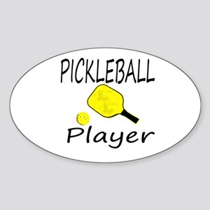 Pickleball player with paddle and ball Sticker
