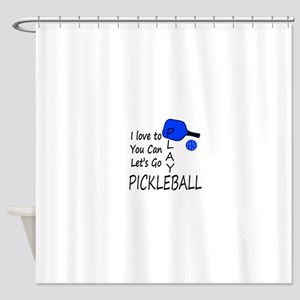 i love to play pickleball Shower Curtain