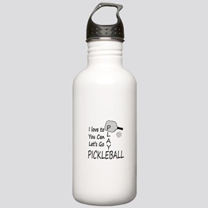 i love to play pickleball Water Bottle