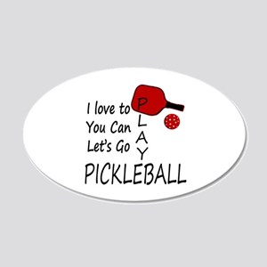i love to play pickleball Wall Decal