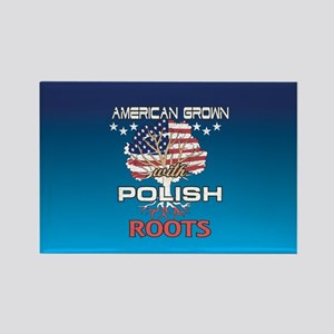 Polish American Rectangle Magnet