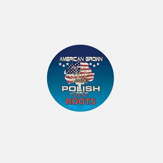 Polish American Mini Button