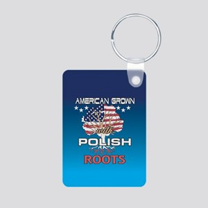 Polish American Aluminum Photo Keychain
