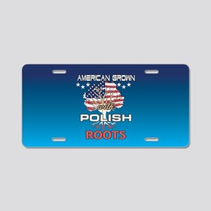 Polish American Aluminum License Plate