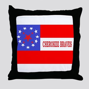 Cherokee Rifles Throw Pillow