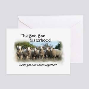 Pack of 6 Baa Baa Sisterhood Cards