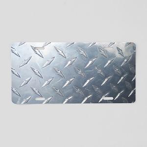 Diamond Plate Aluminum License Plate