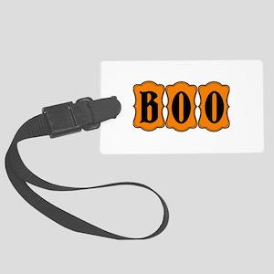 BOO Halloween Orange and Black 2 Luggage Tag
