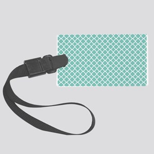 Tiffany Blue & White Moroccan Pa Large Luggage Tag