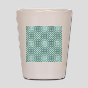 Tiffany Blue & White Moroccan Pattern Shot Glass