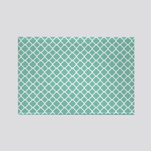 Tiffany Blue & White Moroccan Pat Rectangle Magnet