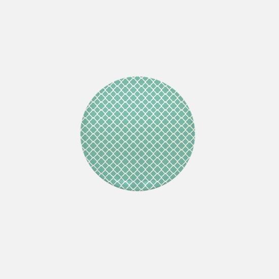 Tiffany Blue & White Moroccan Pattern Mini Button