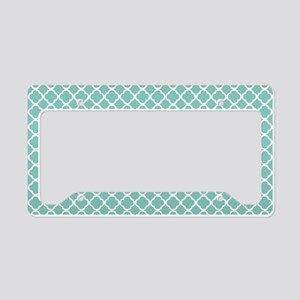 Tiffany Blue & White Moroccan License Plate Holder