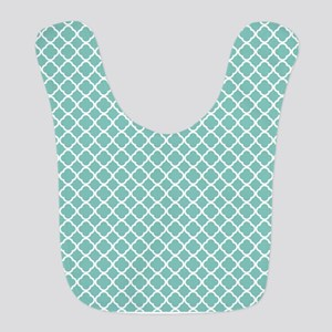 Tiffany Blue & White Moroccan Pattern Bib