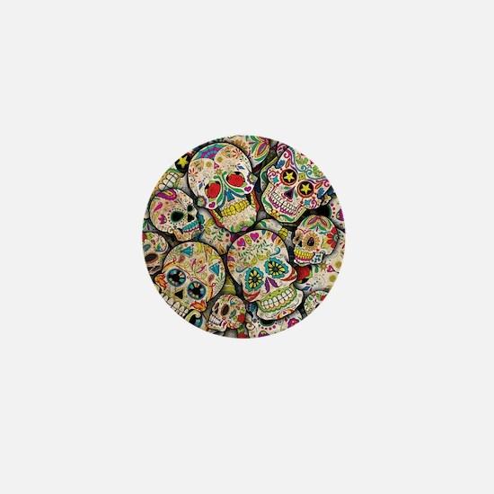 Funny Sugar skull Mini Button