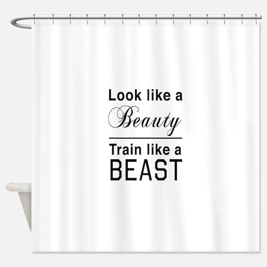 Look beauty train beast Shower Curtain
