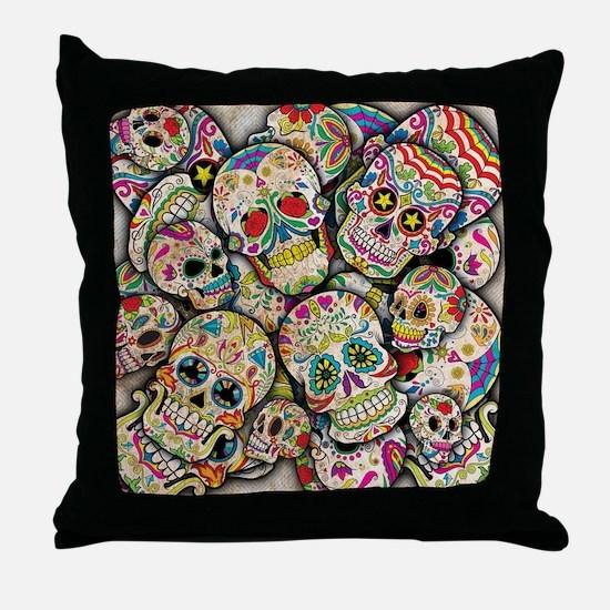 Unique Sugar skulls Throw Pillow