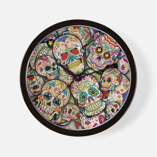Unique Sugar skulls Wall Clock