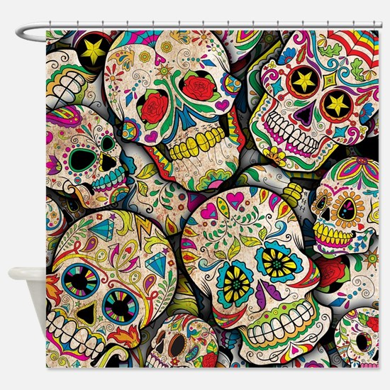 Unique Sugar skulls Shower Curtain