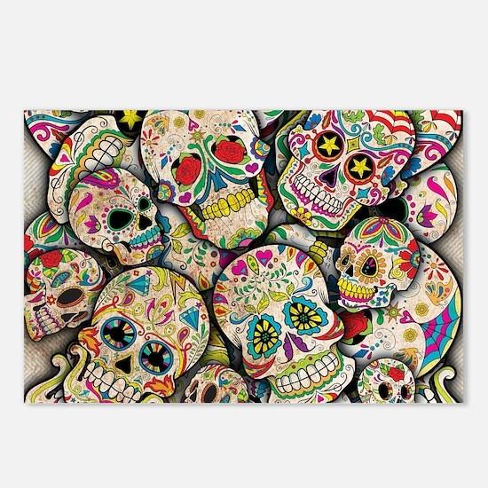 Cool Sugar skull Postcards (Package of 8)