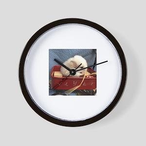 Chinchilla in a Wagon Wall Clock