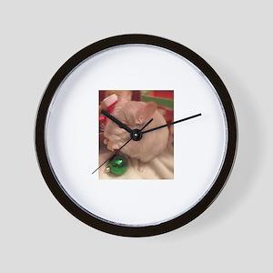 Christmas Chinchilla Wall Clock