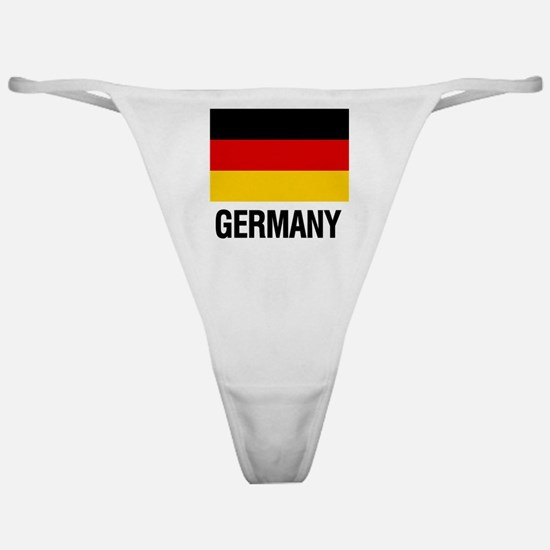 Cute Germany flag Classic Thong